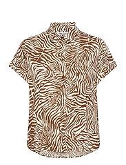 Majan ss shirt aop 9942 - MOUNTAIN ZEBRA