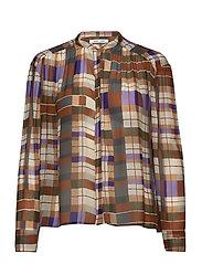 Elmy shirt aop 9695 - PATCHWORK CHECK
