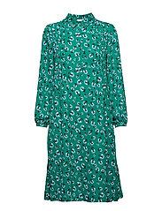 Musa shirt dress aop 6891 - GREEN CARNATION