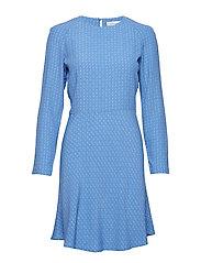 Zambia ls dress aop 6515 - BLUE STARRY