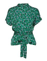 Blumea blouse ss aop 8325 - GREEN CARNATION