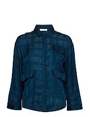 Ilona shirt 10866 - BLUE OPAL