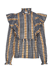 Martha shirt aop 11159 - INCA CHECK