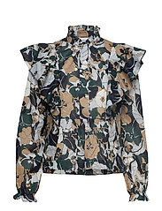 Martha shirt aop 11159 - NIGHT MEADOW