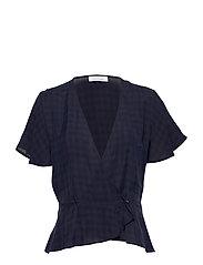 Sylvi blouse ss 10851 - DARK SAPPHIRE