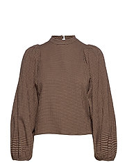 Harriet blouse 11238 - ARGAN CHECK