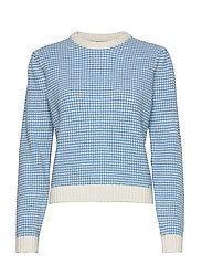 Leta crew neck 11439 - AZURE BLUE