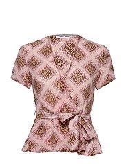 Klea ss blouse aop 6621 - FOULARD