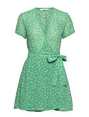 Klea short dress aop 6621 - FEUILLES MENTHE