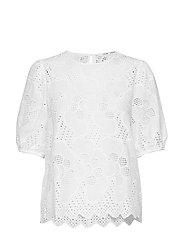 Juni ss blouse 11455 - BRIGHT WHITE