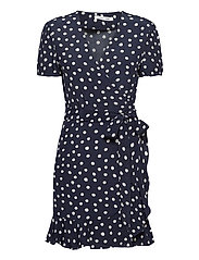 Linetta dress aop 10056 - BLUE DOODLE DOT