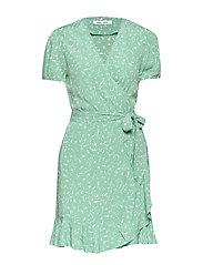 Linetta dress aop 10056 - FEUILLES MENTHE