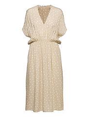 Andina long dress aop 8083 - RICE DOODLE DOT