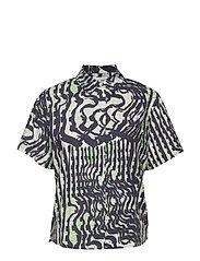 Mina shirt ss aop 11332 - SEISMOGRAPH