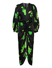 Daaliya long dress aop 12887 - GREEN WATERLILY