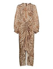 Daaliya long dress aop 12887 - MOUNTAIN ZEBRA