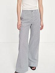 Samsøe Samsøe - Allie trousers 13158 - bukser med brede ben - milk boy st. - 4