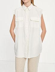 Samsøe Samsøe - Tea shirt top 11466 - denim shirts - antique white - 4