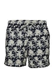 Mason swim shorts aop 6956 - BLEU PALMIER AOP