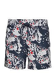 Mason swim shorts aop 6956 - BLUE PANTHERA