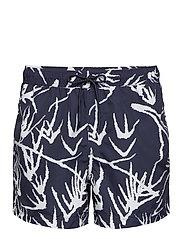 Mason swim shorts aop 6956 - NIGHT SKY PALM