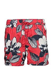 Mason swim shorts aop 6956 - RED MAUI AOP