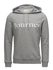Travel hoodie 9668 - GREY MEL.