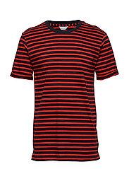 Emmo stripe o-n ss 7913 - FIERY RED ST.