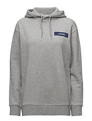 Straits hoodie samsoe 10119 - GREY MEL BLUE
