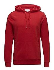 Poison hoodie samsoe 10118 - FLAME SCARLET
