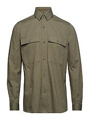 Waltones overshirt 10208 - DEEP LICHEN GREEN