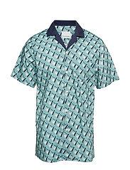 Einar SA shirt aop 8015 - GREEN MATCHBOX
