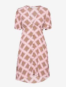 Petunia short dress aop 10056 - korte kjoler - foulard