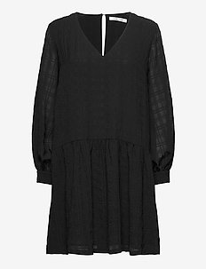 Millo ls dress 12890 - short dresses - black