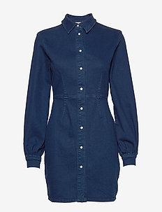 Berthe dress 11492 - skjortklänningar - indigo blue