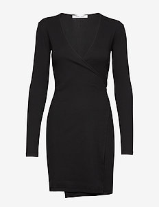 Sarai wrap dress 12708 - BLACK