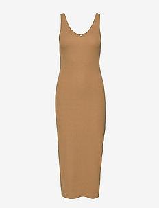Suella long dress 7542 - KHAKI