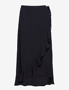 Limon l wrap skirt 6515 - BLACK