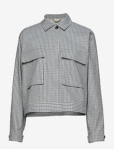 Kirstina check jacket 10814 - MEGAN BLUE CHECK