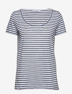 Nobel tee stripe 3173 - stripede t-skjorter - 3173 blue stripe