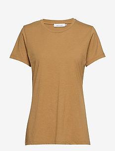 Solly tee solid 205 - t-shirts - khaki