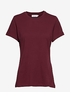 Solly tee solid 205 - t-shirts - tawny port