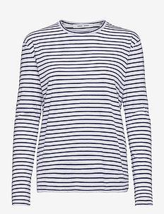 Nobil t-shirt ls st 205 - gestreifte t-shirts - blue st