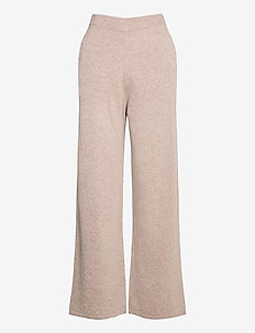 Amaris straight trousers 12758 - uitlopende broeken - khaki mel.