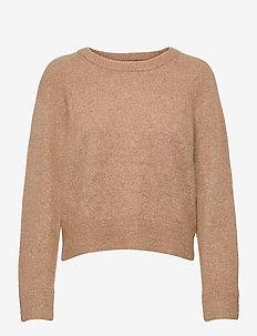Nor o-n short 7355 - trøjer - camel brown mel.