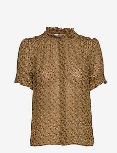 Rosella shirt aop 9695 - pitkähihaiset puserot - blossom