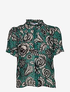Rosella shirt aop 9695 - kortærmede bluser - bouquet