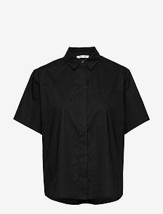 Mina shirt ss 10451 - kortärmade skjortor - black