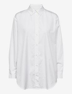 Haley shirt 11468 - farkkupaidat - white