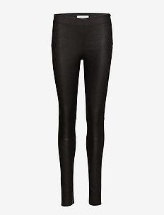 Delta leggi 2169 - spodnie skórzane - black